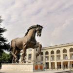 Bronze equestrian statue